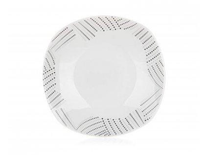 BANQUET Talíř porcelánový hluboký CHARME 22 x 22 cm