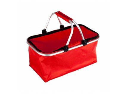 Košík kempingový, červený