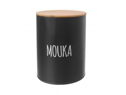 Dóza MOUKA BLACK pr. 13 cm