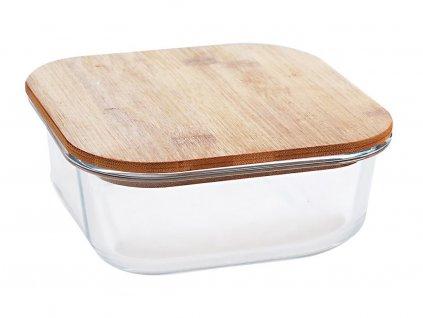 Skleněná dóza s dřevěným víčkem Clavato 1,2l