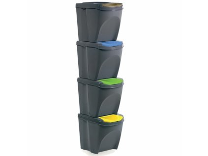 Odpadkový koš na tříděný odpad SORT 4x21 l