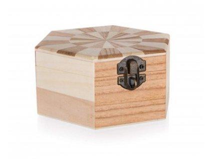 Krabička dřevěná CHESS 14 x 12 x 6 cm, 2ks