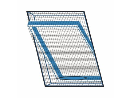 Síť proti hmyzu střešní okno 120x140 cm černá