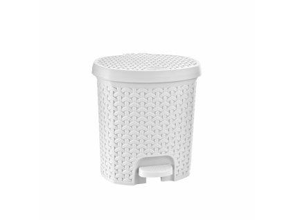 Odpadkový koš RATAN 5,5l bílý