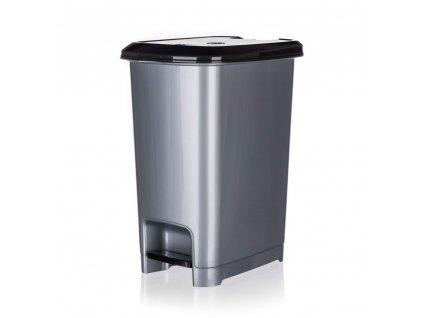 Koš odpadkový nášlapný STEP 15 l, šedý
