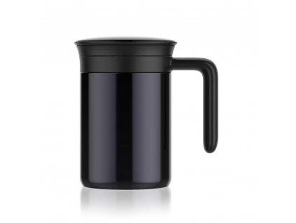 BANQUET Termohrnek nerezový PHASE 480 ml, černý
