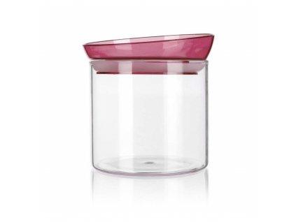 BANQUET Dóza skleněná MABEL 650 ml, bordó
