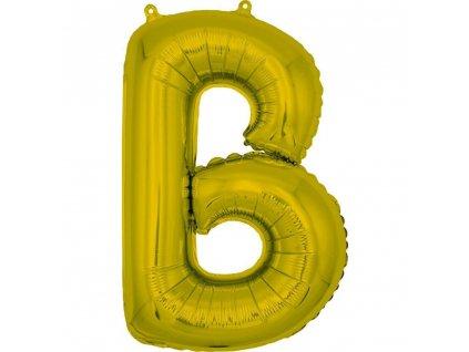 BANQUET Balónek nafukovací foliový písmeno B, MY PARTY, výška 30 cm