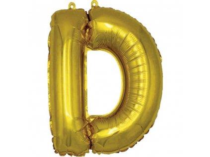 BANQUET Balónek nafukovací foliový písmeno D, MY PARTY, výška 30 cm