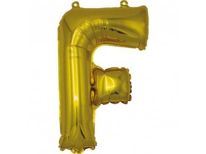 BANQUET Balónek nafukovací foliový písmeno F, MY PARTY, výška 30 cm