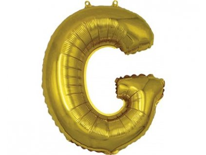 BANQUET Balónek nafukovací foliový písmeno G, MY PARTY, výška 30 cm