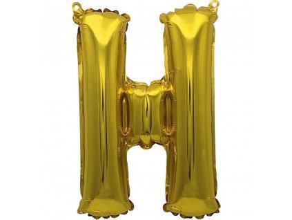 BANQUET Balónek nafukovací foliový písmeno H, MY PARTY, výška 30 cm