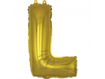 BANQUET Balónek nafukovací foliový písmeno L, MY PARTY, výška 30 cm