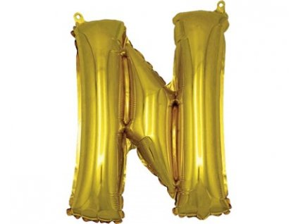 BANQUET Balónek nafukovací foliový písmeno N, MY PARTY, výška 30 cm