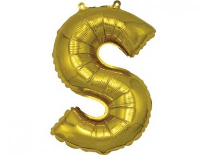 BANQUET Balónek nafukovací foliový písmeno S, MY PARTY, výška 30 cm
