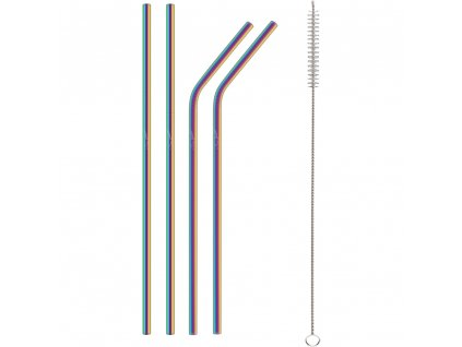 116081 sada nerezovych brcek lamart straw lt7053 duha
