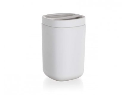 BRILANZ Kelímek na kartáčky s dělítkem plastový 7,7 x 7,7 x 12 cm, bílý
