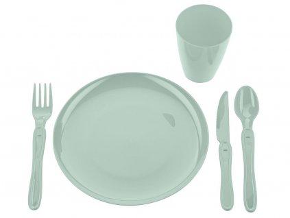 Pikniková jídelní sada 21ks máta