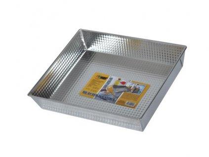 Vysoký plech na pečení 30x25x6cm stříbrný