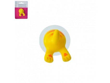 51414 plastovy hacek s prisavkou animal 4 x 4 cm