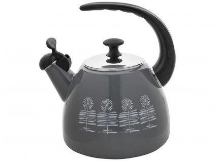 Smaltovaný čajník Polino 2,2l šedý