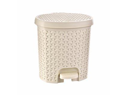 Odpadkový koš RATAN 11,5l krémový