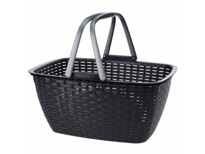 Nákupní košík s uchy černý