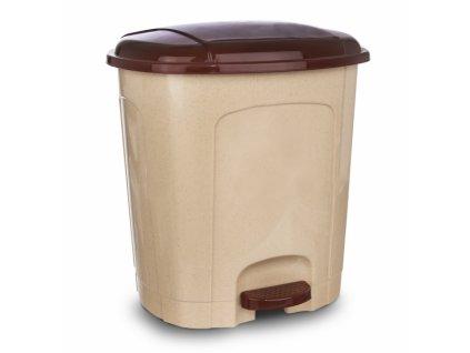 Odpadkový koš nášlapný 21l béžový