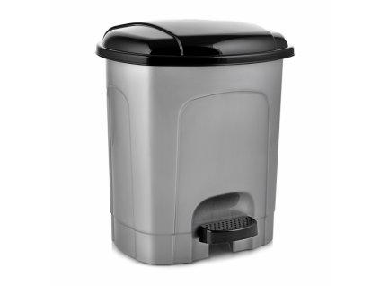 Odpadkový koš nášlapný 21l šedý