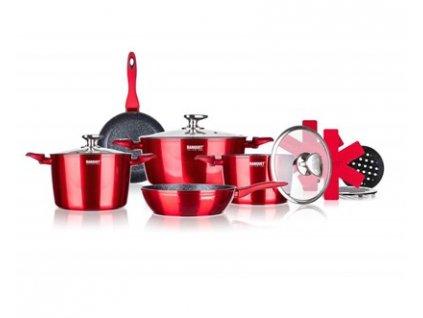 Sada nepřilnavého nádobí Banquet METALLIC RED 12ks