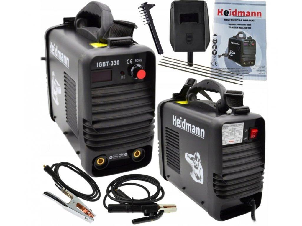 Invertorová svářečka 330A IGBT Heidmann