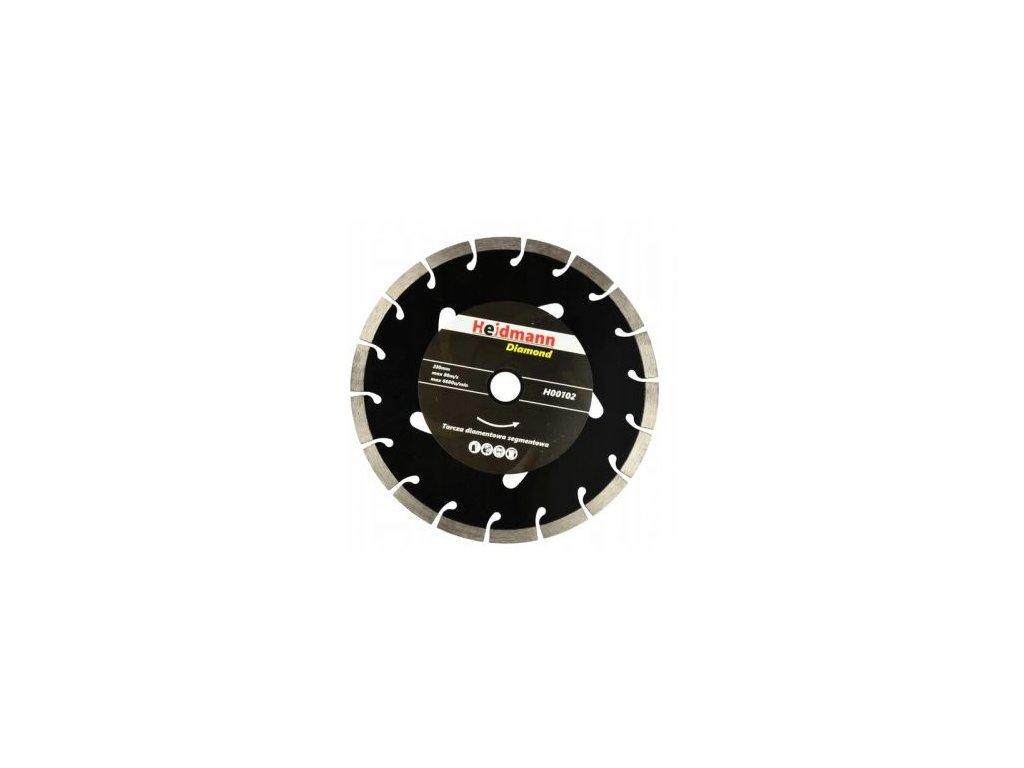 Screenshot 2021 07 23 at 10 35 41 Heidmann černý kotouč řezný diamantový pro řezání betonu 230x22,2x10mm H00102 299 Kč es[...]