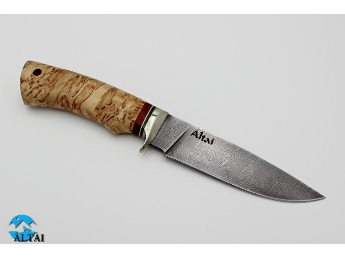 Nůž z damaškové oceli Šaman