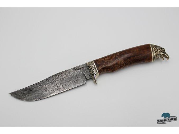Ručně kovaný lovecký nůž z damaškové oceli Kelt