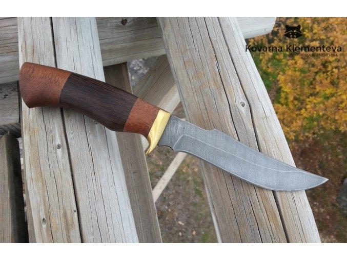 Nůž z damaškové oceli Španěl - mahagon
