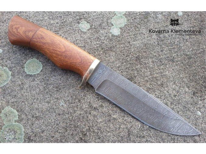 Nůž z damascénské oceli Myslivec