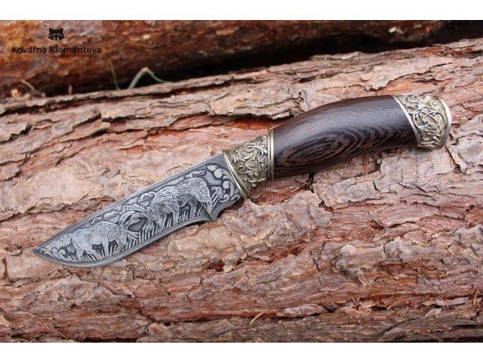 Lovecký nůž VLK r12, gravir (3)