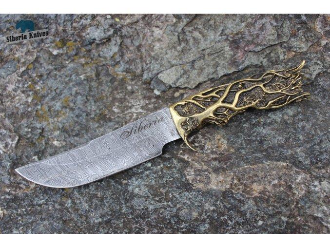 Ručně kovaný nůž z damascenské oceli Changar