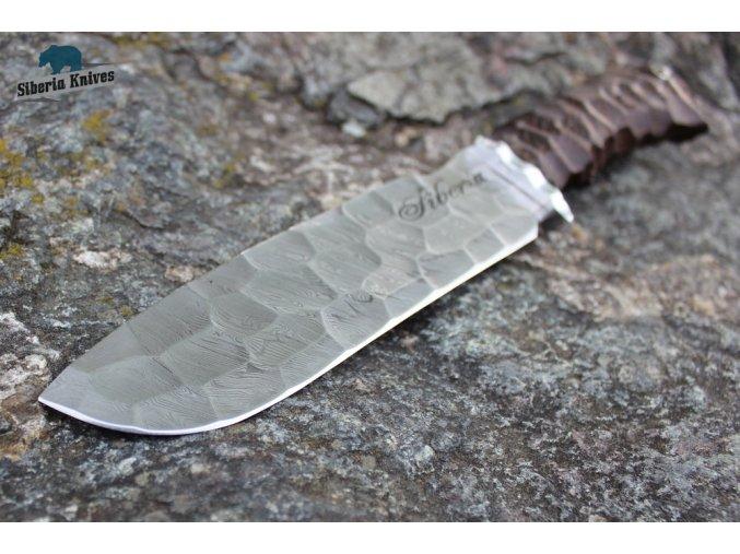 Ručně kovaný nůž z damascenské oceli Horal
