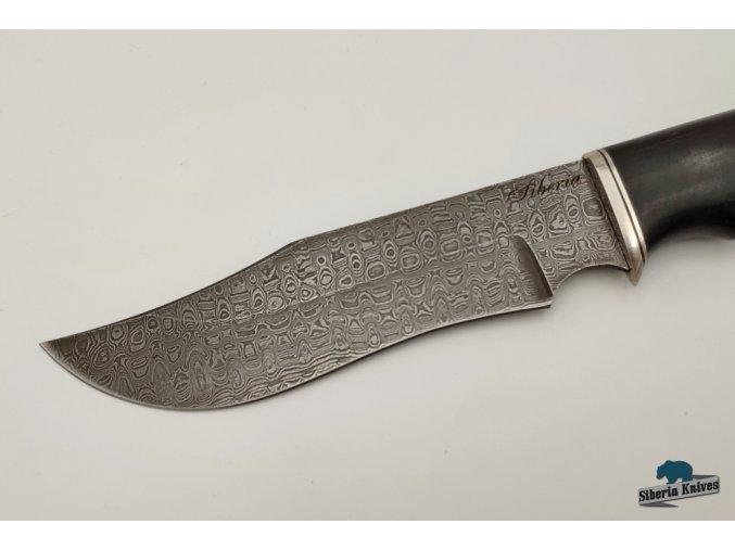 Lovecký nůž z damascenské oceli Dundee