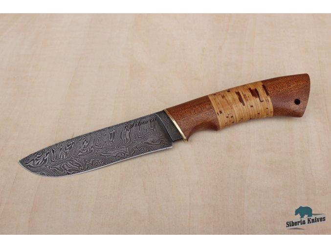 Lovecký nůž z damascenské oceli Varan