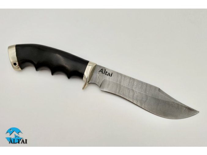 Lovecký nůž z damaškové oceli Duch