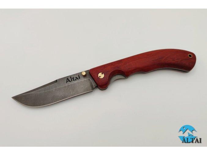 Zavírací nůž z damaškové oceli Jestřáb I