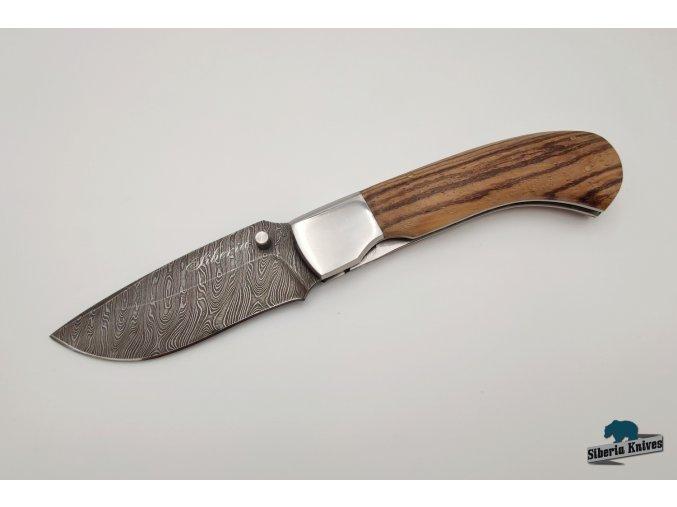 Zavírací nůž z damaškové oceli Kormorán - zebráno