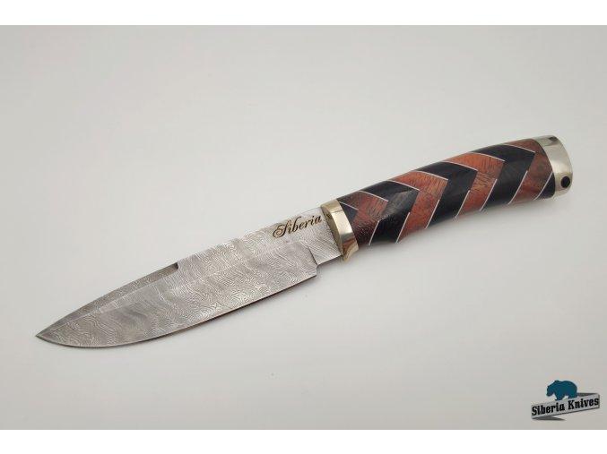 Lovecký nůž z damascenské oceli Orion