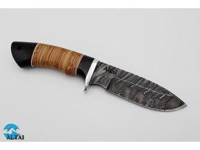 Lovecký nůž z damaškové oceli Divočák