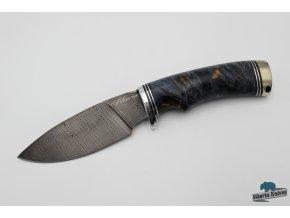 Lovecký nůž z damascénské oceli Hranostaj