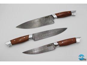 Sada ručně kovaných, prémiových nožů z damaškové oceli Masterchef  do kuchyně