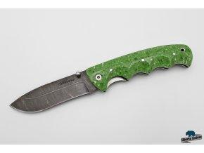 Zavírací ručně kovaný nůž z damašku Greenhorn