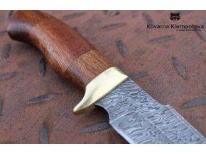 Nůž z damascénské oceli Lovec - mahagon